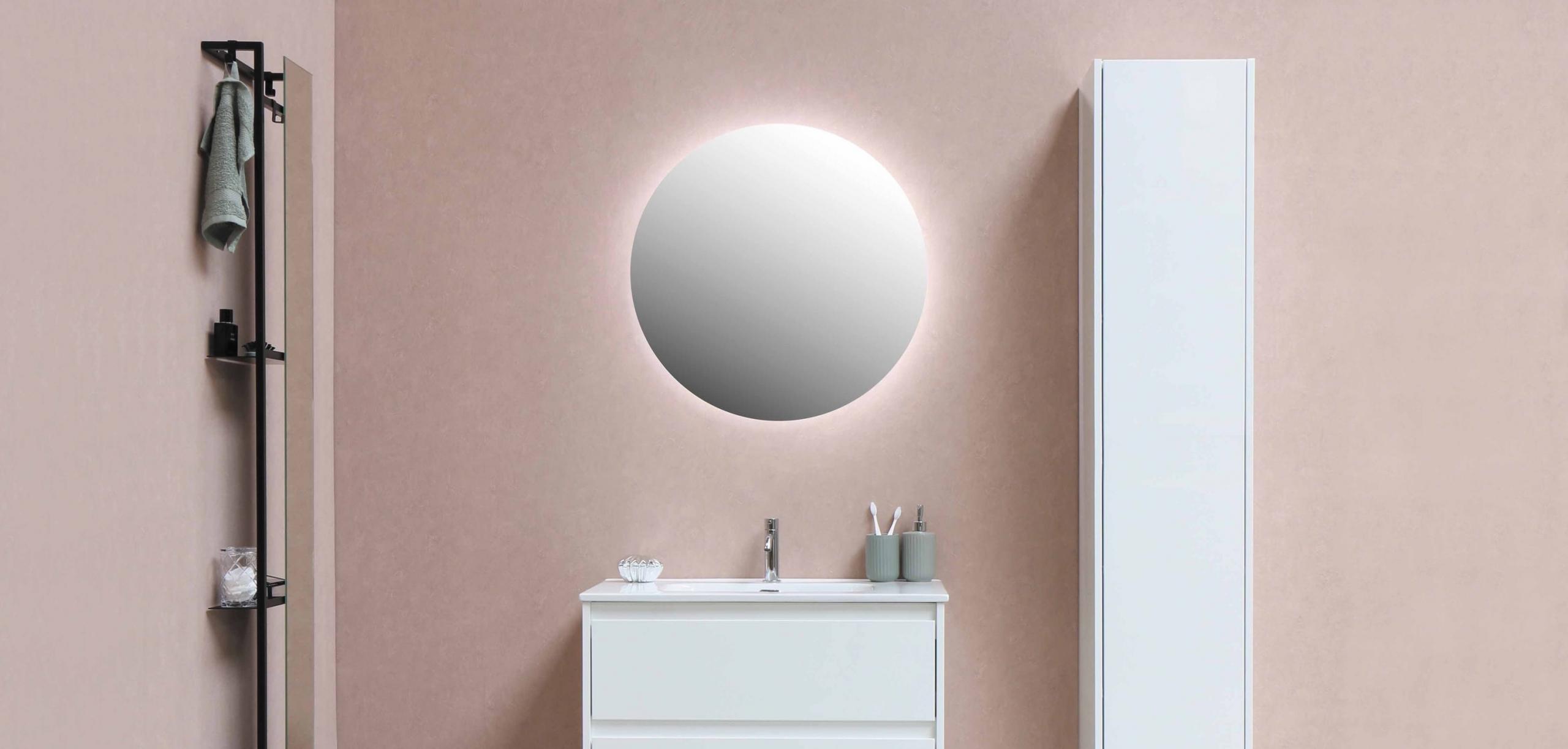 badkamer-roze-ronde-spiegelverlichting