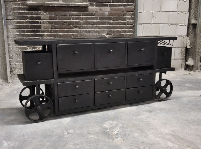 zwart-Industrieel dressoir Moker 1